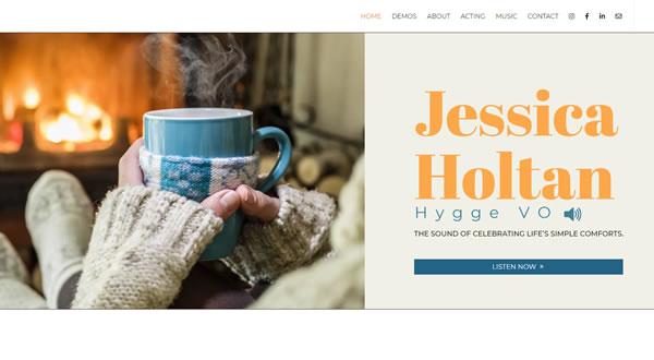 Jessica Holtan branding by Celia Siegel Management