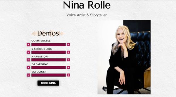 Nina Rolle branding by Celia Siegel Management